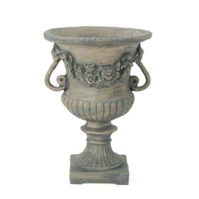 Buena Vista 24 in. Antique Grey Cast Stone Urn