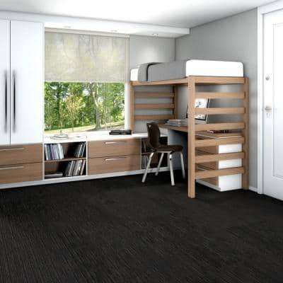 Fellowship Woodsmoke Loop Pattern Commercial 24 in. x 24 in. Glue Down Carpet Tile (20 Tiles/Case)