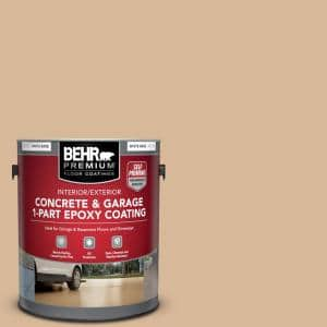 1 gal. #S260-3 Dusty Gold Self-Priming 1-Part Epoxy Satin Interior/Exterior Concrete and Garage Floor Paint