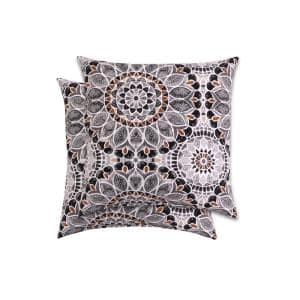 18 in. Arden Cooper Medallion Square Outdoor Throw Pillow (2-Pack)