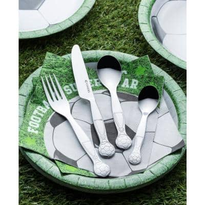On the Ball 4-Piece Stainless Steel Kid's Cutlery Set with Gift Box (Service for 1)