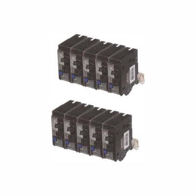 15 Amp Single Pole Combination AFCI Circuit Breakers (10-Pack)