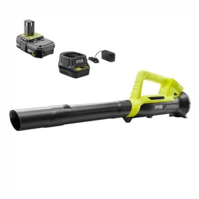 90 MPH 200 CFM ONE+ 18-Volt Lithium-Ion Cordless Leaf Blower/Sweeper - 2.0 Ah Battery and Charger Included