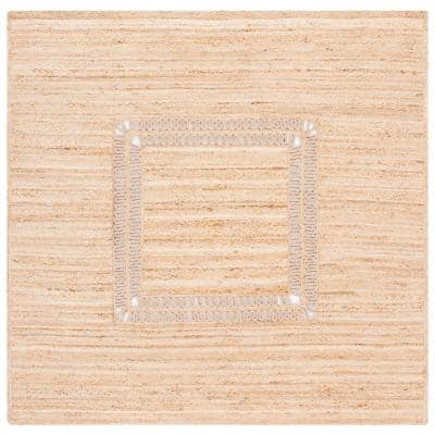 Natural Fiber Beige 6 ft. x 6 ft. Square Area Rug