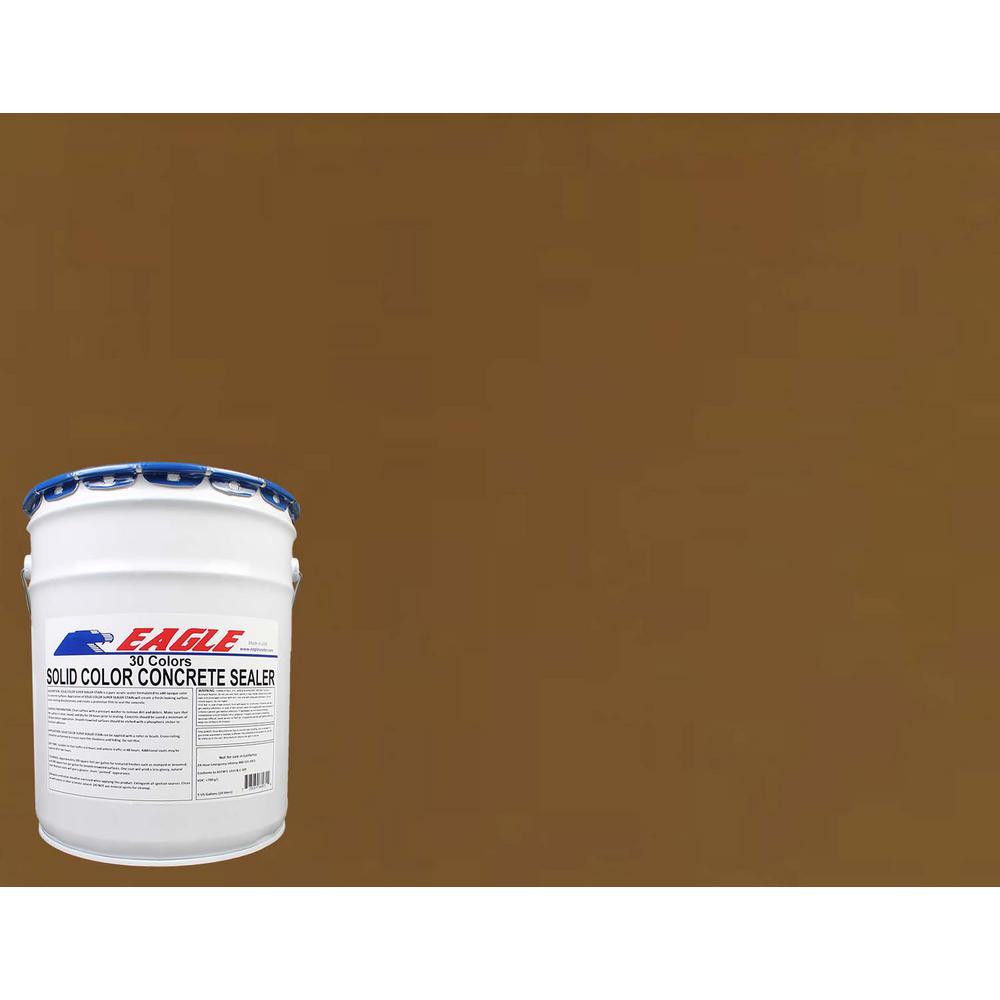 5 gal. Cedar Brown Solid Color Solvent Based Concrete Sealer