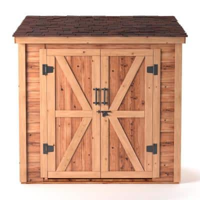 6 ft. x 4 ft. Medium Brown Cedar Lean-To Shed
