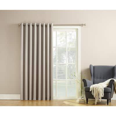 Stone Solid Grommet Room Darkening Curtain - 100 in. W x 84 in. L