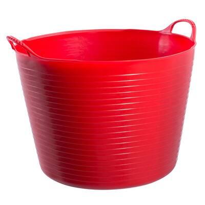10 Gal. Red Flexible Plastic Tub
