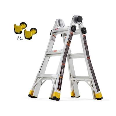 14 ft. Reach MPXA Multi-Position Ladder/MPX Wheel Kit (Combo-Pack)