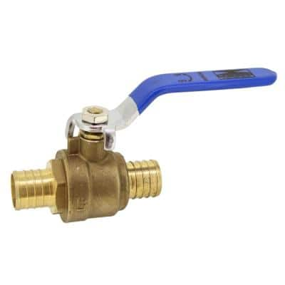 1 in. PEX Full Port Brass Ball Valve With Blue Handle