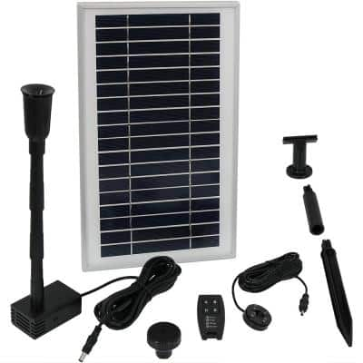 55 in. Lift 105 GPH Solar Pump Kit with Battery Pack and Remote Control