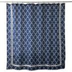 Lithgow 72 in. Blue Shower Curtain