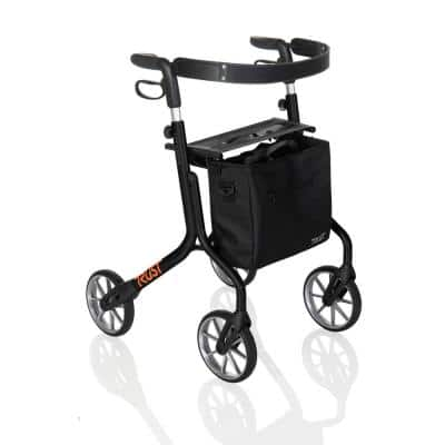 4-Wheels Let's Move Rollator with in Black