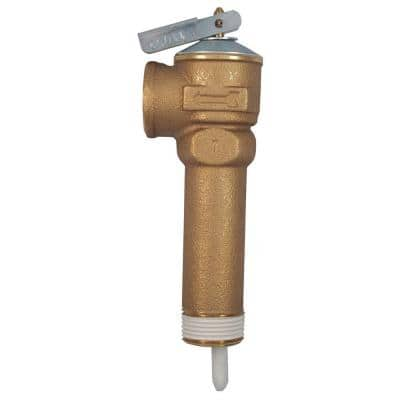 3/4 in. Bronze NCLX-5LX Temperature and Pressure Relief Valve with 3-1/2 in. Shank MNPT Inlet x FNPT Outlet