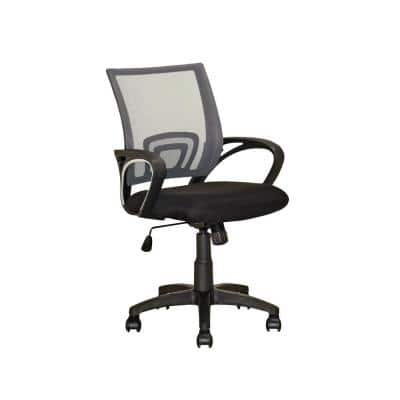 Workspace Black and Dark Grey Mesh Back Office Chair