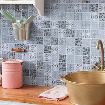 Classico 2 in. Blue 12 in. x 12 in. Porcelain Mosaic Tile (9.79 sq. ft./Case)