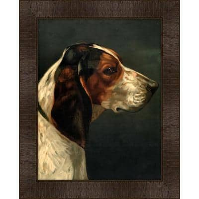 Portrait of Hector Framed Giclee Dog Art Print 17 in. x 21 in.