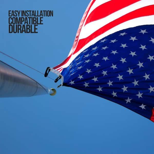 4 PCS Flag Pole Clip Snap Hooks Nylon Flagpole Attachment Hardware High Quality