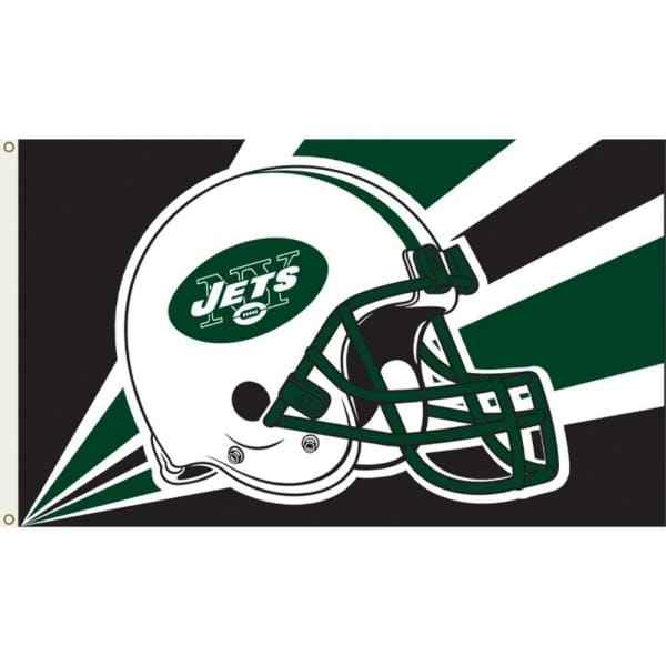 Annin Flagmakers 3 Ft X 5 Ft Polyester New York Jets Flag 1375 The Home Depot