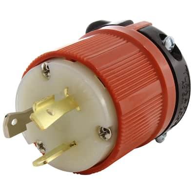 20 Amp 277-Volt NEMA L7-20P 3-Prong Industrial Grade Locking Male Plug