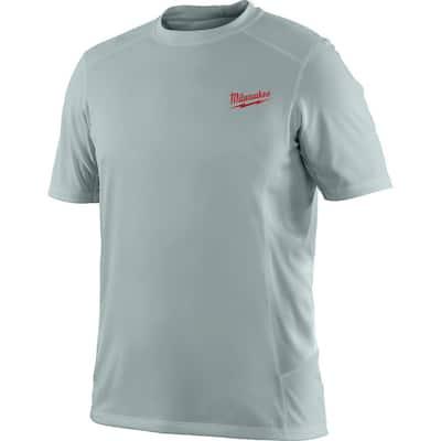 Men's Small Work Skin Gray Light Weight Performance Shirt