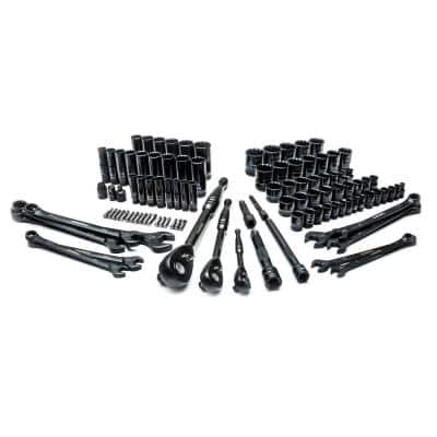 1/4 in., 3/8 in. and 1/2 in. SAE Drive 100-Position Universal and Metric Mechanics Tool Set (105-Piece)