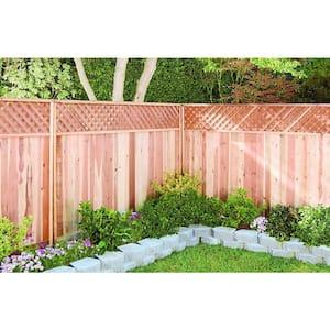 6 ft. H x 8 ft. W Redwood Lattice Top Fence Panel