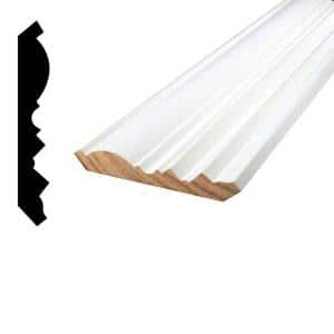 11/16 in. x 4-17/32 in. x 96 in. Primed Finger-Jointed Pine Crown Moulding