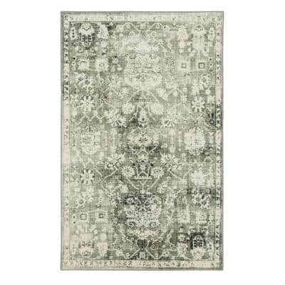 Stamford Grey 8 ft. x 10 ft. Floral Area Rug