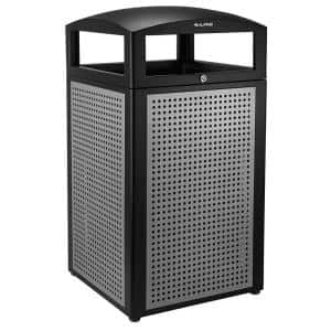 40 Gal. All-Weather Outdoor Commercial Trash Can with Lid