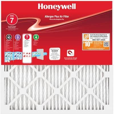 13-1/2 x 13-1/2 x 1 Allergen Plus Pleated MERV 11 - FPR 7 Air Filter
