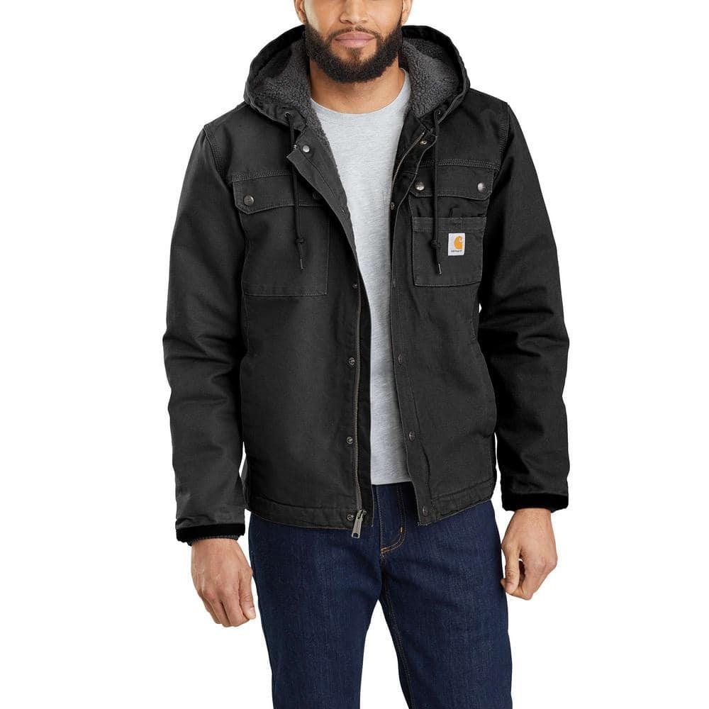 Carhartt Men S Xx Large Black Cotton Washed Duck Bartlett Jacket 103826 Blk The Home Depot [ 1000 x 1000 Pixel ]