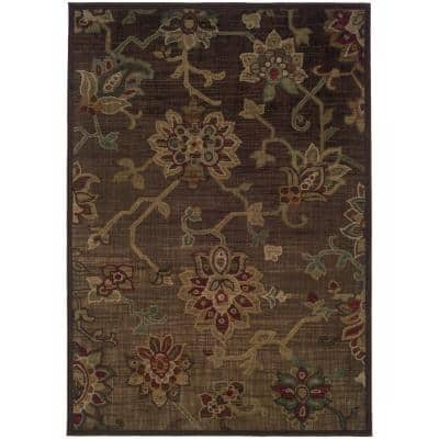 Promise Brown 5 ft. x 8 ft. Area Rug