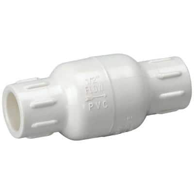 1 in. PVC Schedule 40 Slip-Joint x Slip-Joint In-Line Check Valve