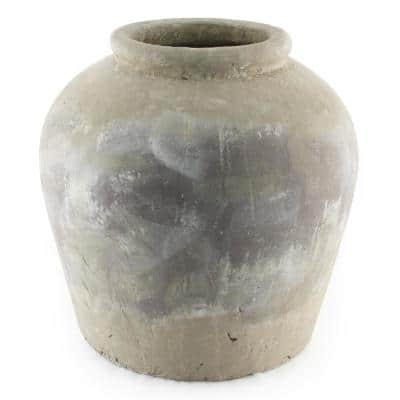 Terracotta Olive Brown Large Decorative Vase