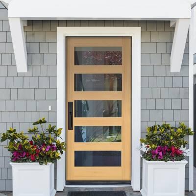 Modern Hemlock Wood Door Collection