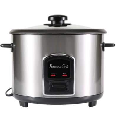 12-Cup Rice Cooker Stainless Steel