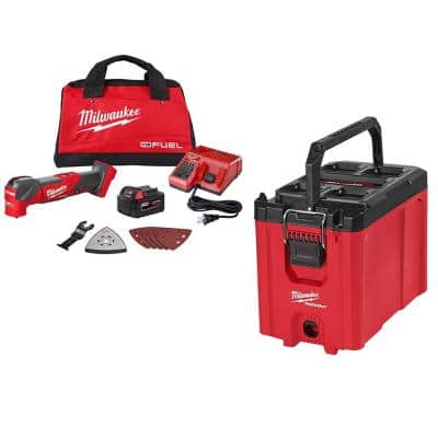 M18 FUEL 18-Volt Lithium-Ion Cordless Brushless Oscillating Multi-Tool Kit and PACKOUT Tool Box