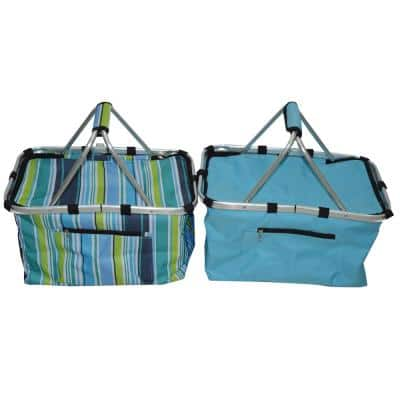 MH Blue and Multi-Color Foil Insulated Bag (2-Pack)