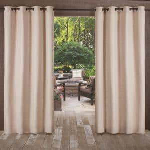 Taupe Solid Grommet Room Darkening Curtain - 54 in. W x 108 in. L (Set of 2)