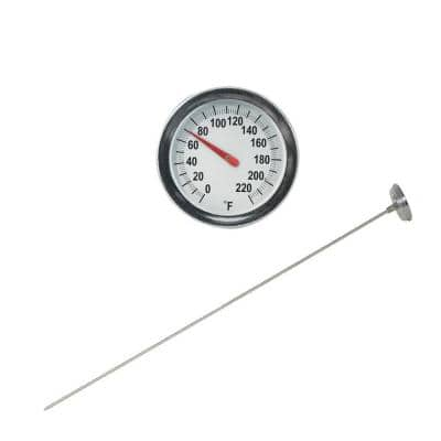 Soil and Compost Thermometer with 2 in. Analog Dial and 20 in. Stem