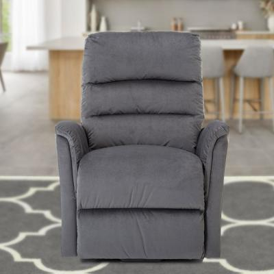 36 in. Width Big and Tall Gray Microfiber Lift Recliner