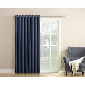 Navy Solid Grommet Room Darkening Curtain - 100 in. W x 84 in. L