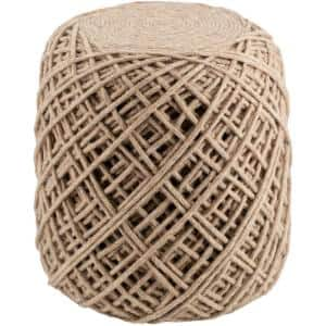 Nomiki Wheat Accent Pouf