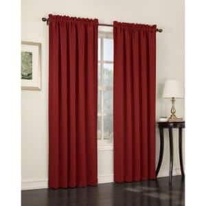 Brick Solid Rod Pocket Room Darkening Curtain - 54 in. W x 63 in. L