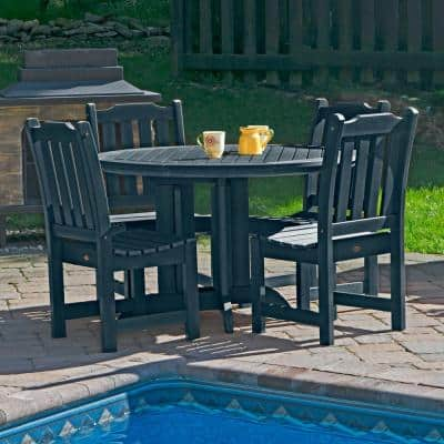 Lehigh Federal Blue 5-Piece Plastic Round Outdoor Dining Set