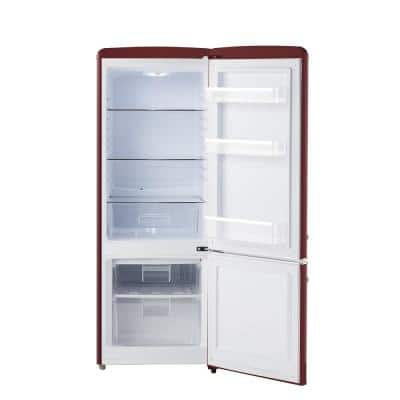 7 cu. ft. Retro Bottom Freezer Refrigerator in Wine Red