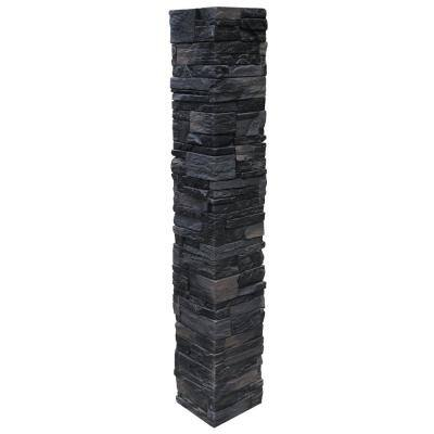 Country Ledgestone 8 in. x 8 in. x 47 in. Andean Onyx Polyurethane Faux Stone Split Post Cover (2-Piece)