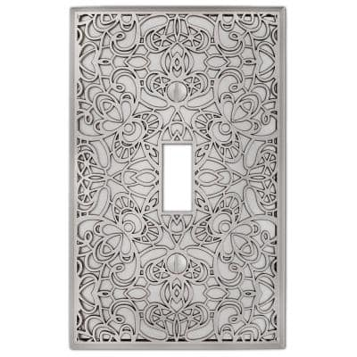Momfort 1 Gang Toggle Metal Wall Plate - Satin Nickel