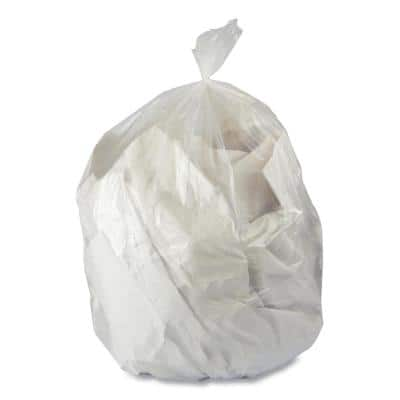 24 in. x 24 in. 10 Gal. 6 mic Natural High-Density Trash Can Liners (50-Bags/Roll, 20-Rolls/Carton)